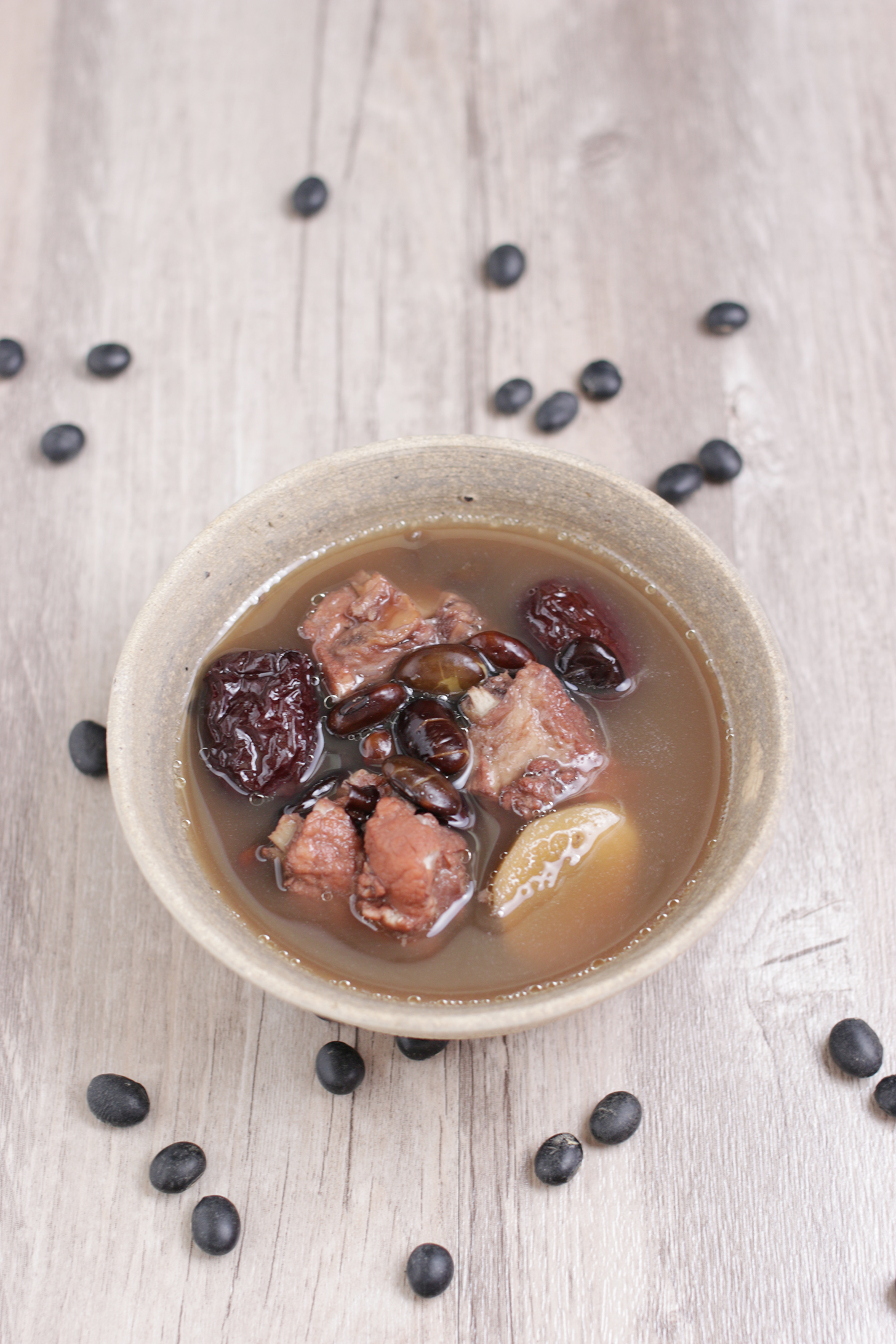 Black Bean Black Date Pork Rib Soup
