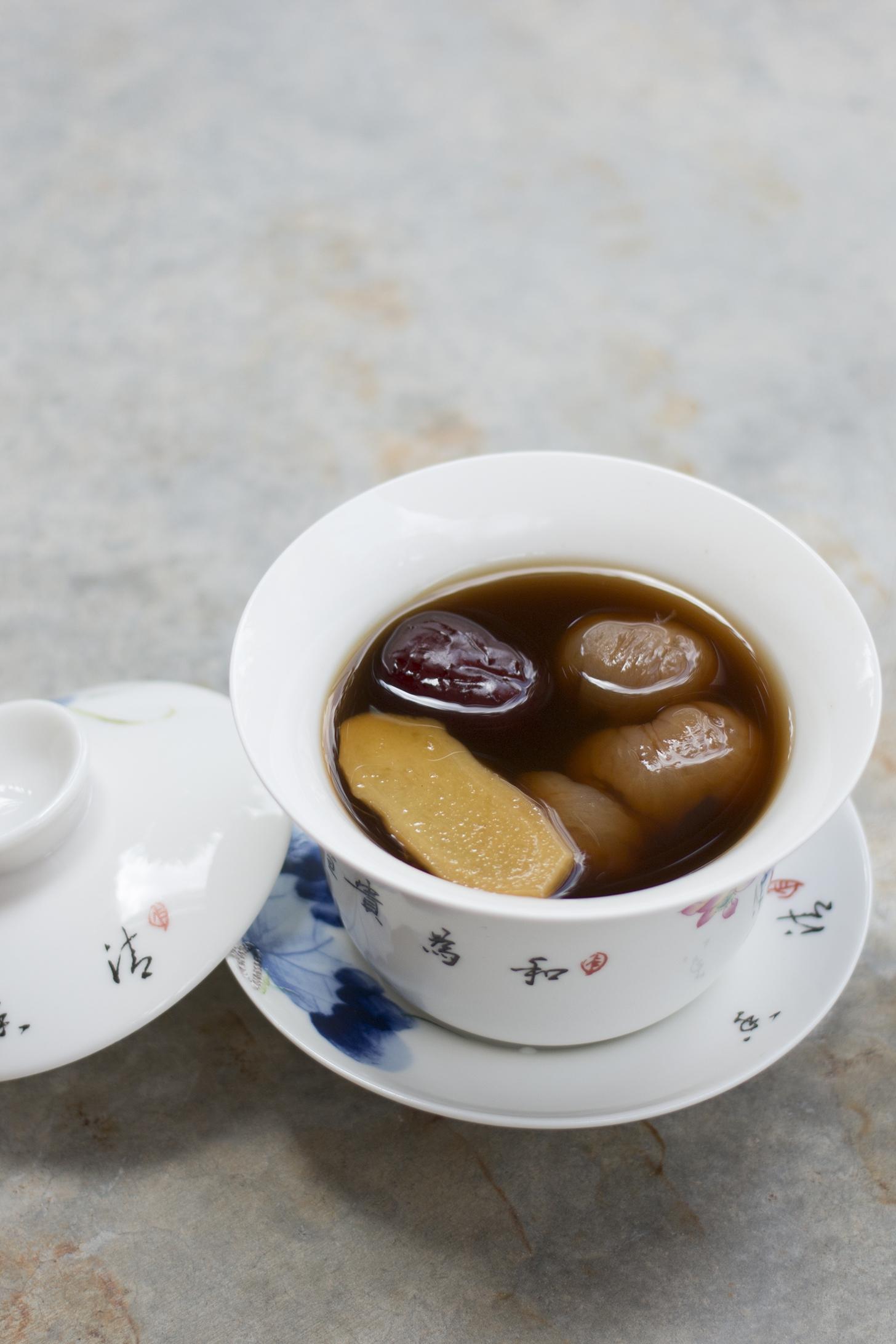 Muscovado Sugar Jujube Longan Ginger Tea