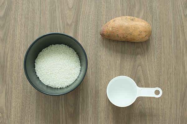 Sweet Potato Rice Ingredients